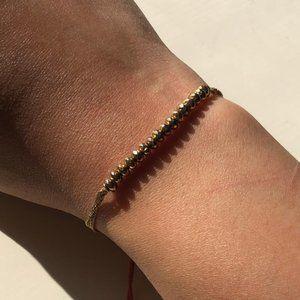 STELLA & DOT Gold Beaded Bracelet
